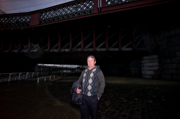 Man under Clyde Bridge