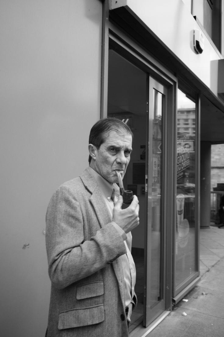 Unhappy pipe smoker